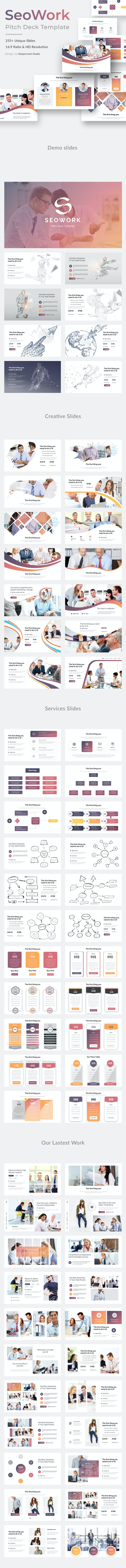 SeoWork Pitch Deck 2019 Keynote Template - Business Keynote Templates