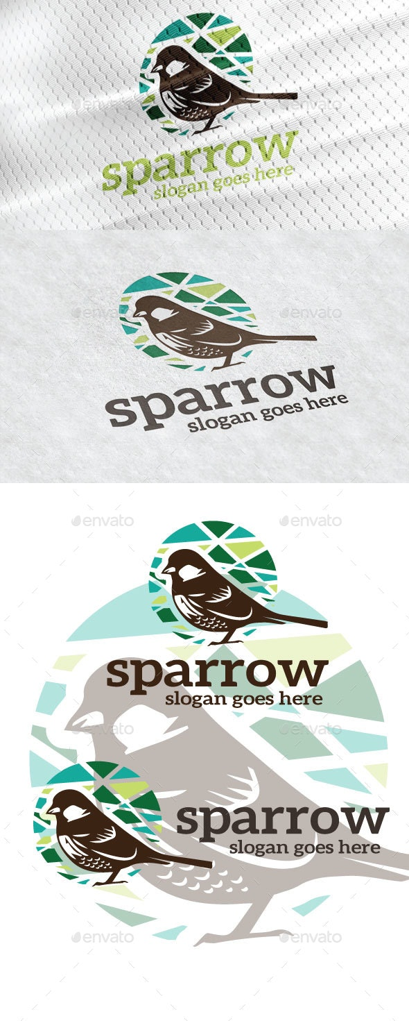 Sparrow Logo - Animals Logo Templates