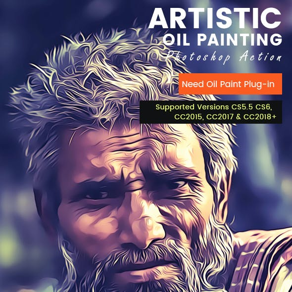 Artistic Oil Painting PS Action