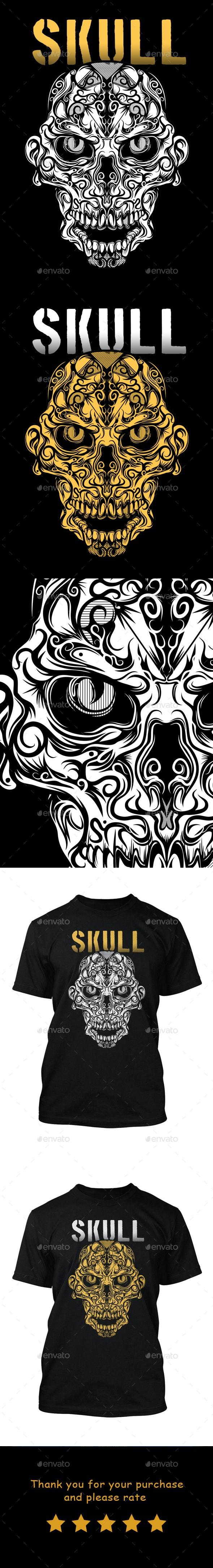 Ethnic Skull 2 - T-Shirts
