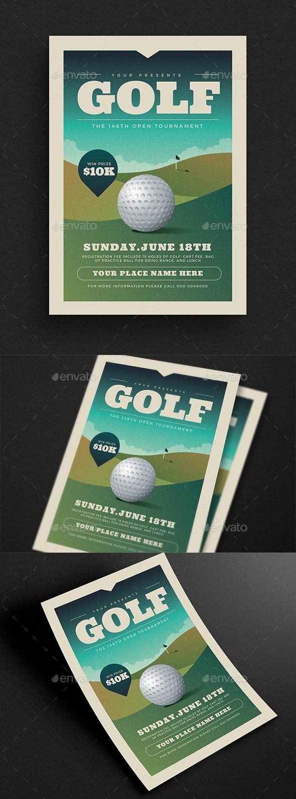 Golf Tournament Event Flyer - Sports Events