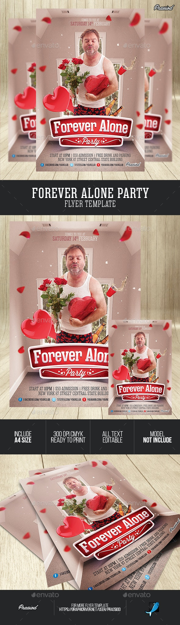 Forever Alone Party Flyer Template - Clubs & Parties Events