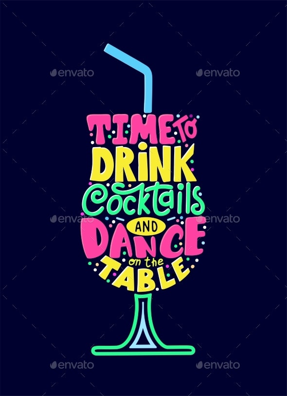 Quote Typographical Design for T-Shirt or Bar Menu - Miscellaneous Vectors