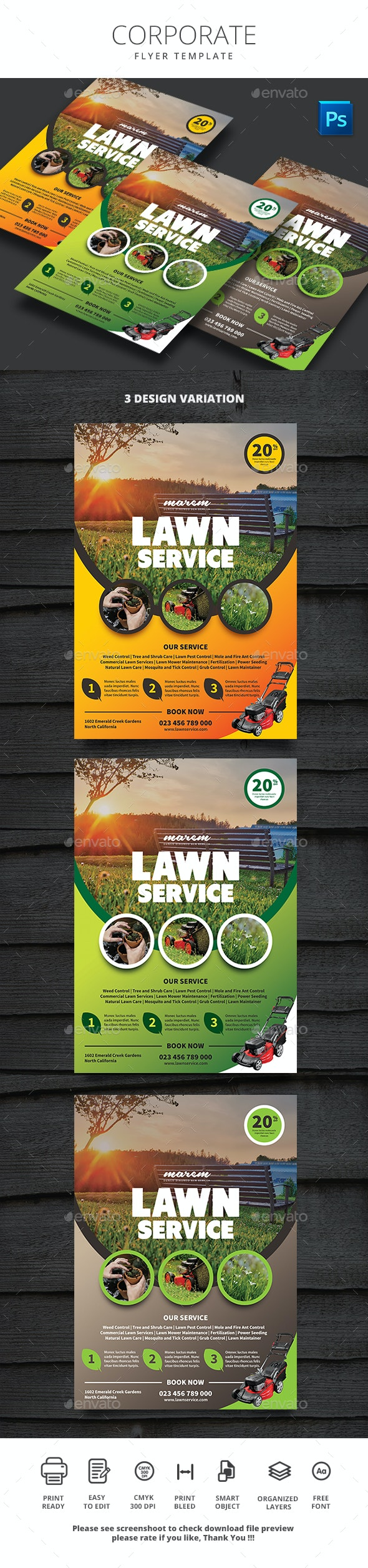 Lawn Service - Flyers Print Templates