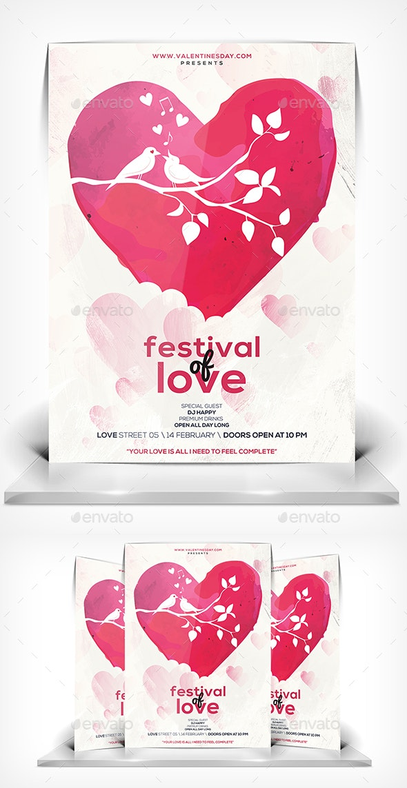 Festival of Love Flyer - Events Flyers