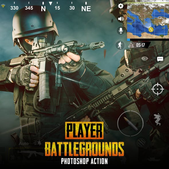 Player Battlegrounds Photoshop Action
