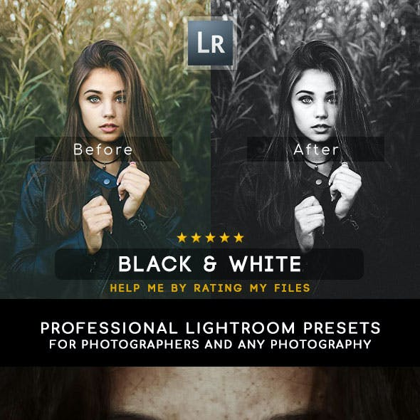 20 Professional Black & White Presets