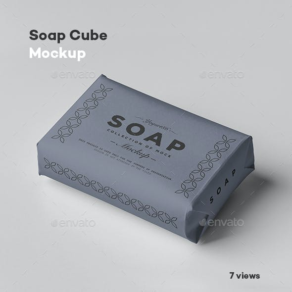 Soap Cube Mock-up
