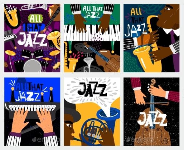 Jazz Music Banners - Miscellaneous Vectors