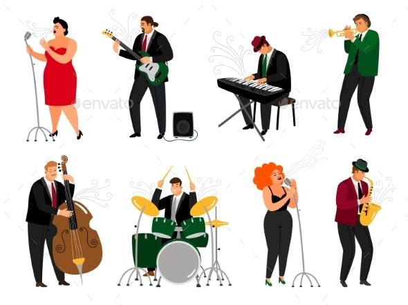 Jazz People Set - People Characters