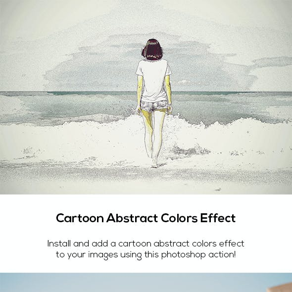 Cartoon Abstract Colors Effect