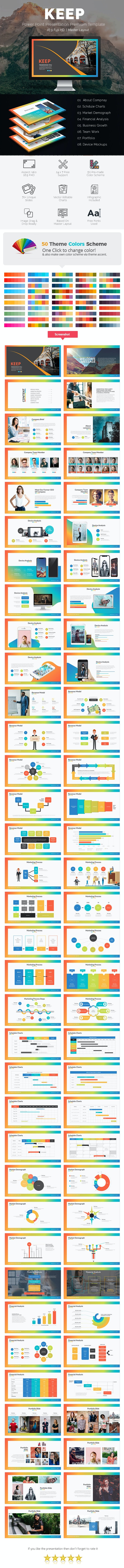Keep Power Point Presentation Template - Business PowerPoint Templates