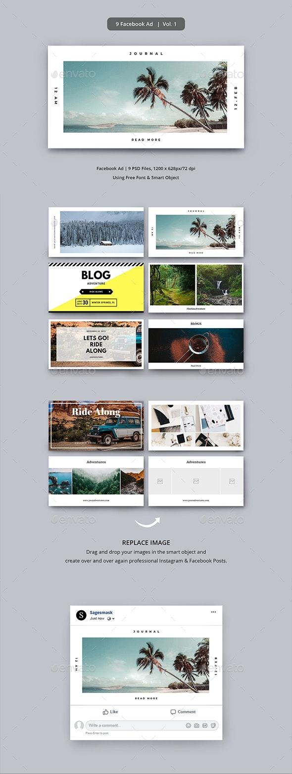 Facebook Ad Vol. 1 - Social Media Web Elements