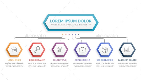 Infographic Template with Six Steps - Infographics