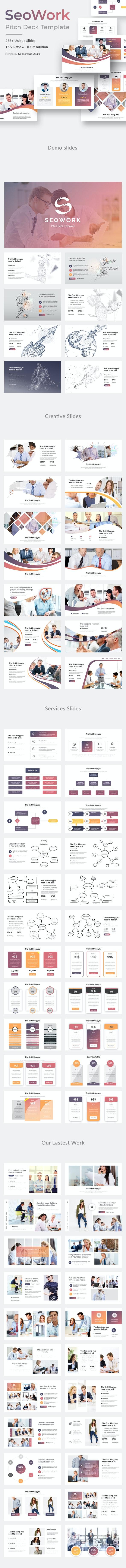 SeoWork Pitch Deck 2019 Google Slide Template - Google Slides Presentation Templates
