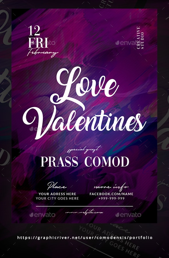 Valentines Day Party Flyer Templates - Clubs & Parties Events