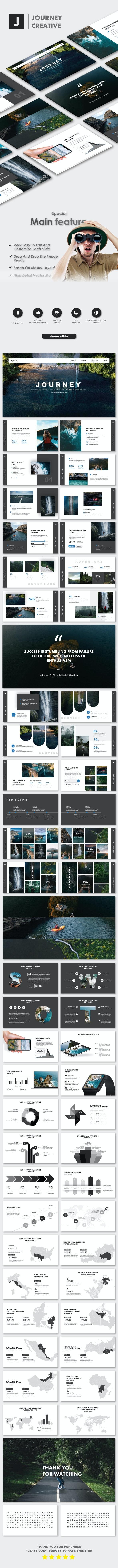 Journey Creative Google Slide Templates - Google Slides Presentation Templates