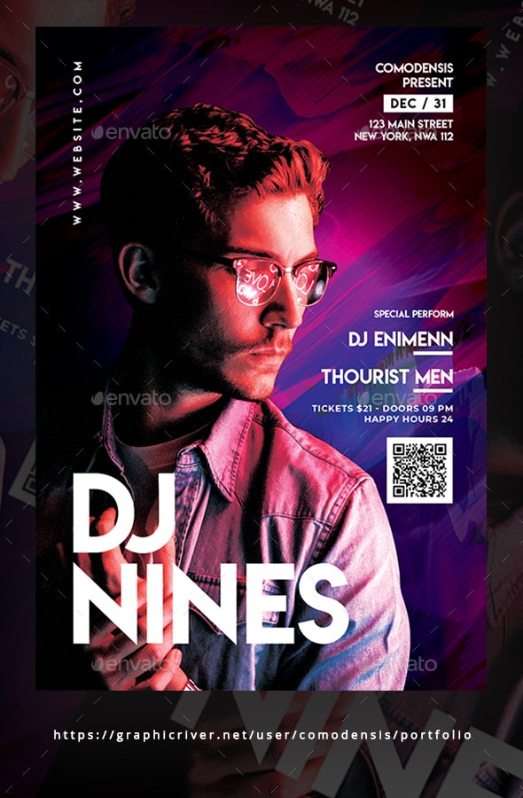 Club Dj Party Flyer Templates - Clubs & Parties Events