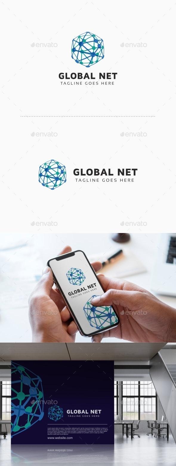Global Network Logo - Abstract Logo Templates