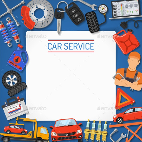 Car Service Banner and Frame - Services Commercial / Shopping