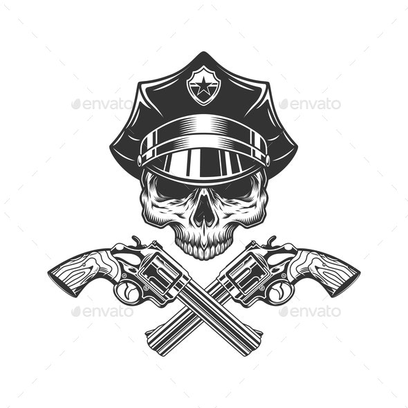 Skull Policeman - Miscellaneous Vectors