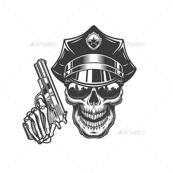 Police Skull - Miscellaneous Vectors