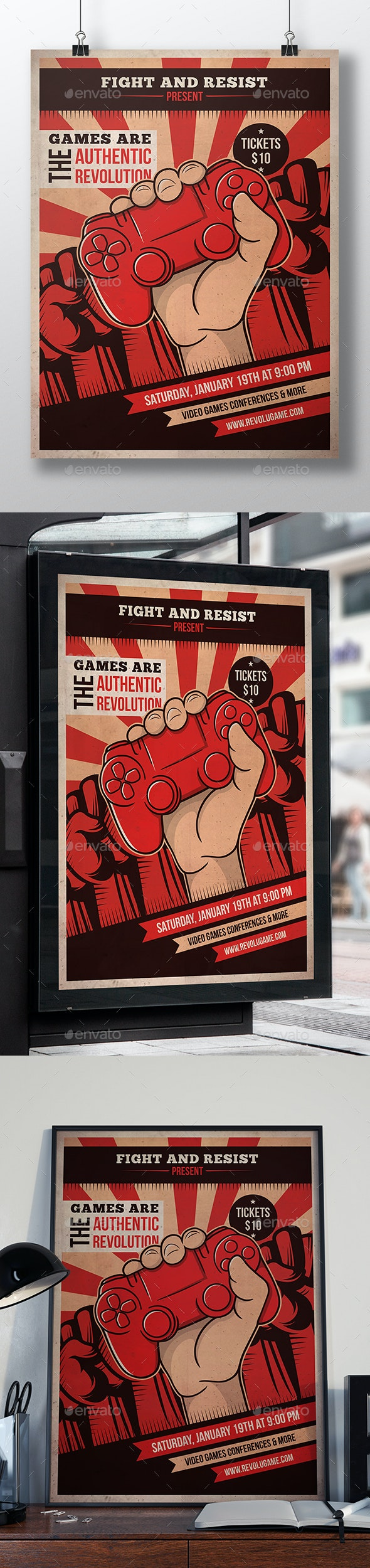 Revolution Games Flyer Template - Miscellaneous Events