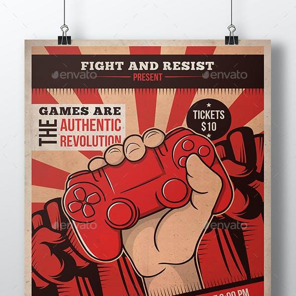 Revolution Games Flyer Template