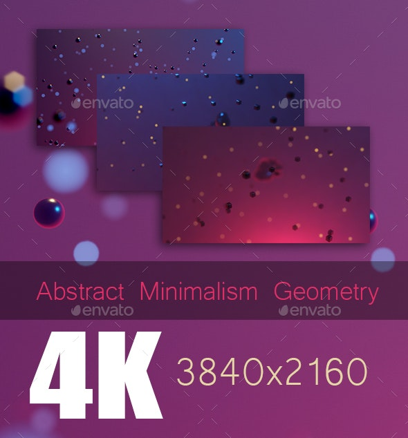 Abstract Minimalism Geometry - 3D Backgrounds