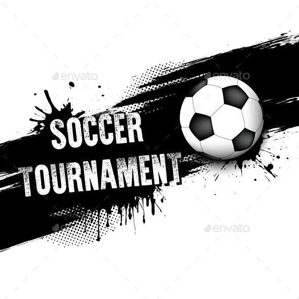 Banners with Soccer Ball - Sports/Activity Conceptual