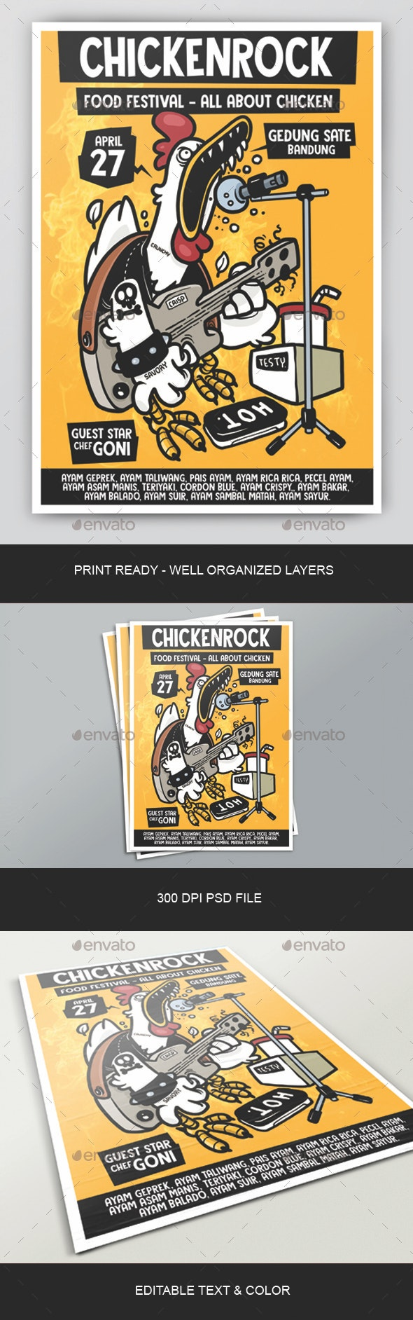 Chicken Rock Poster - Clubs & Parties Events
