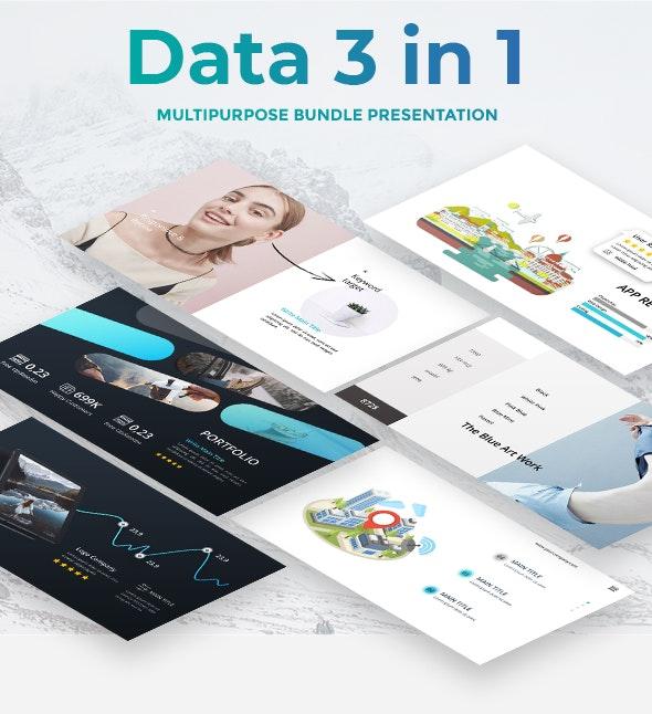 Data 3 in 1 Bundle -  Creative Powerpoint Template - Creative PowerPoint Templates
