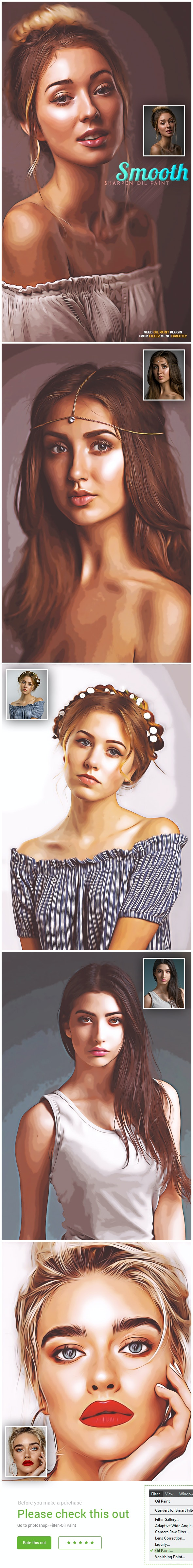 Smooth Sharpen Oil Art - Photo Effects Actions