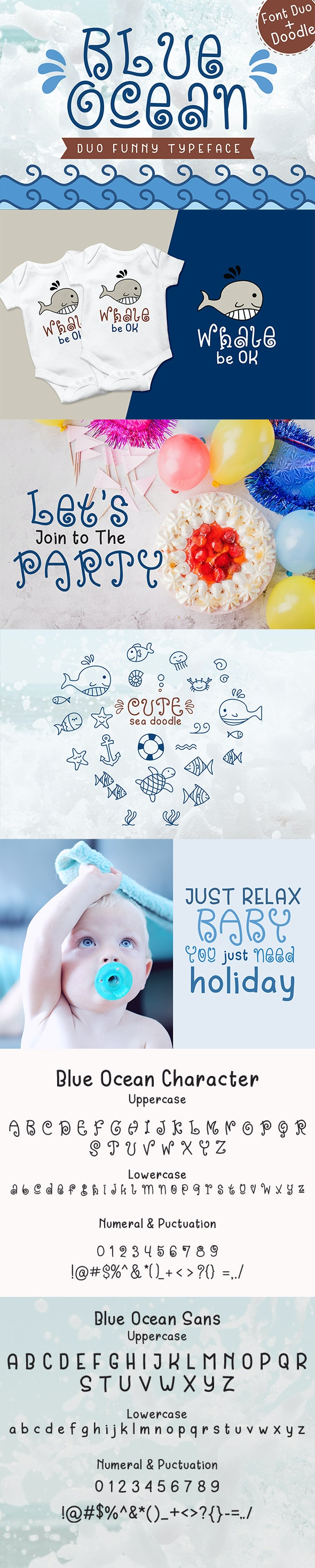 Blue Ocean - Baby Font - Cool Fonts