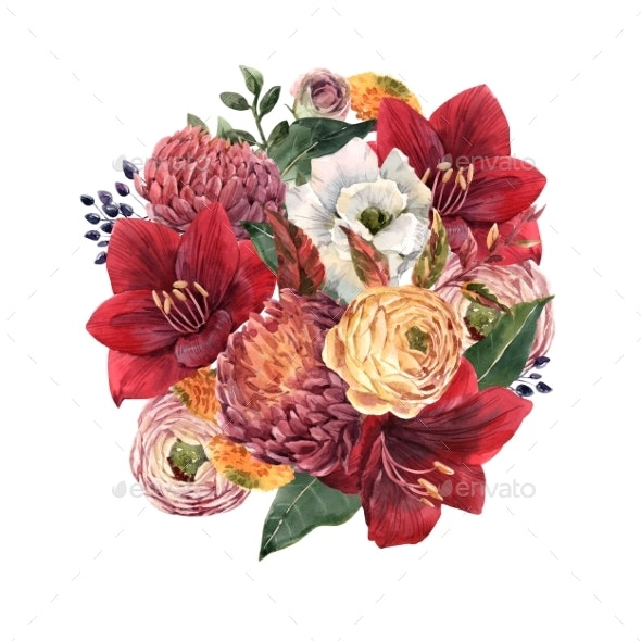 Beautiful Floral Composition - Miscellaneous Illustrations