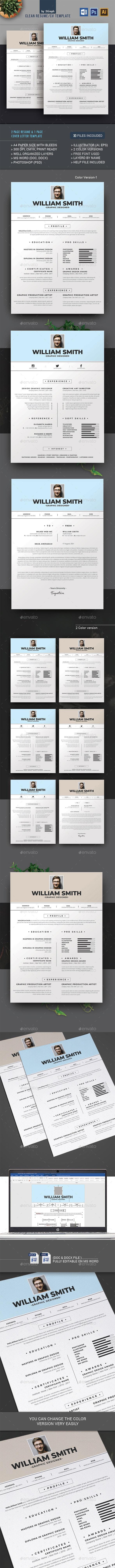 Clean Resume/CV - Stationery Print