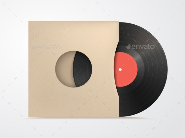Classic Design Template with Vinyl and Cover - Man-made Objects Objects