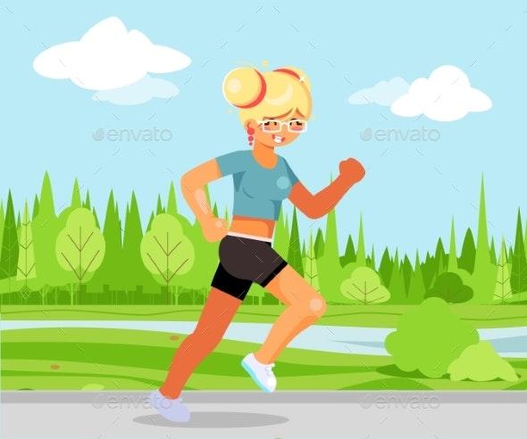 Girl Running - Sports/Activity Conceptual