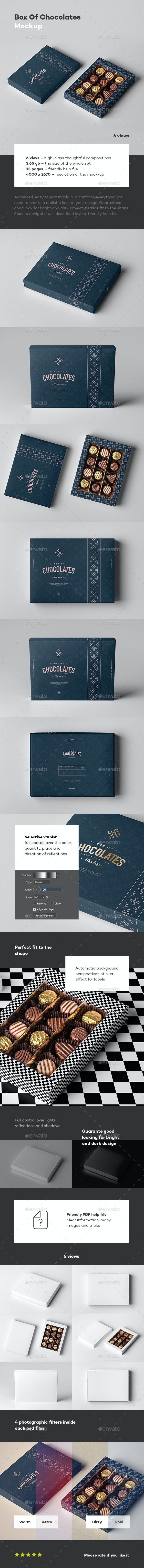 Box Of Chocolates Mock-up - Food and Drink Packaging