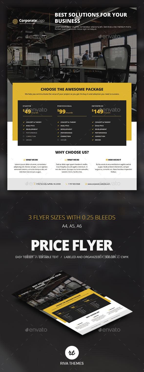 Multipurpose Price Flyer - Corporate Flyers