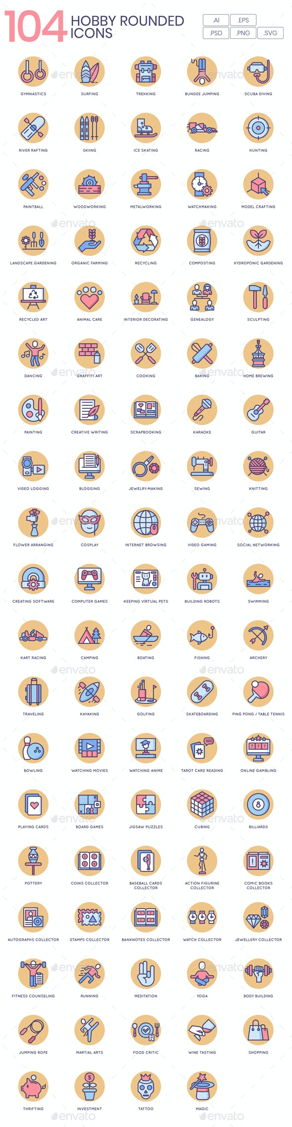 Hobby Icons - Butterscotch Series - Miscellaneous Icons