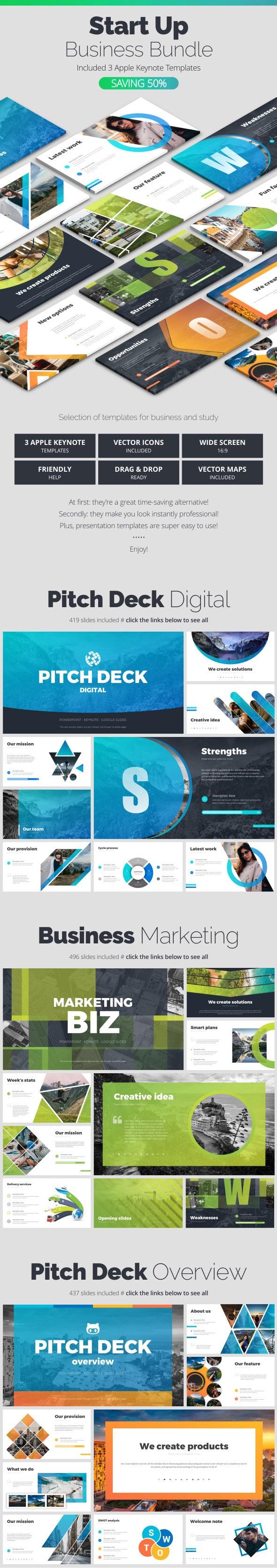 Start Up Bundle - Business Keynote Templates