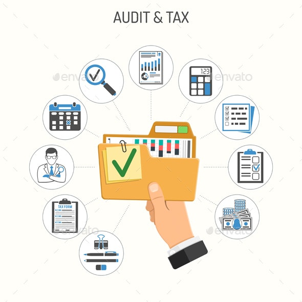 Auditing Tax Accounting Concept - Services Commercial / Shopping