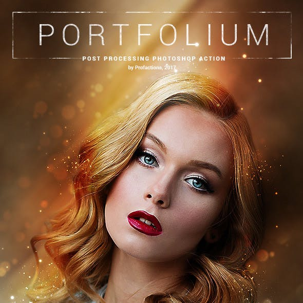 Photo Portrait - Portfolium - Photoshop Action
