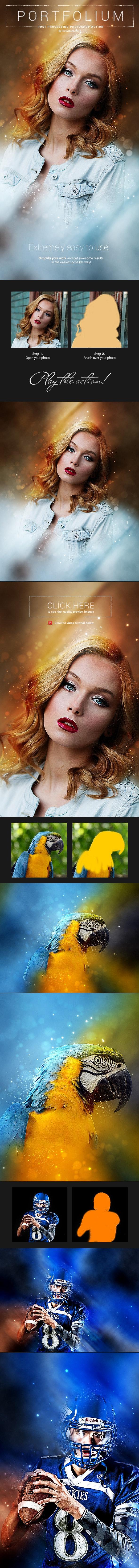 Photo Portrait - Portfolium - Photoshop Action