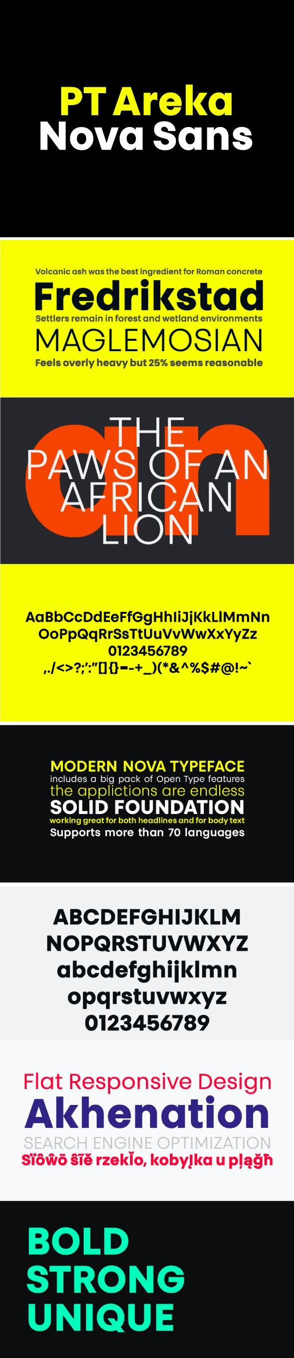 PT Areka Nova Font - Miscellaneous Sans-Serif