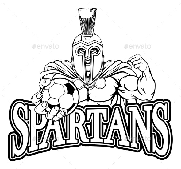 Trojan Spartan Soccer Football Sports Mascot - Sports/Activity Conceptual