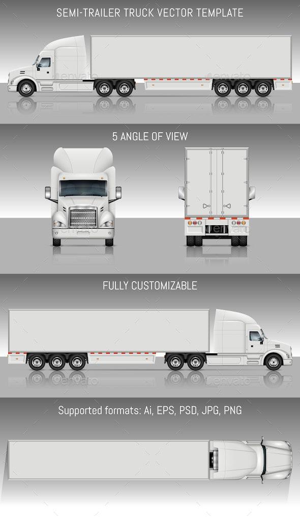 Semi-Trailer Truck - Industries Business