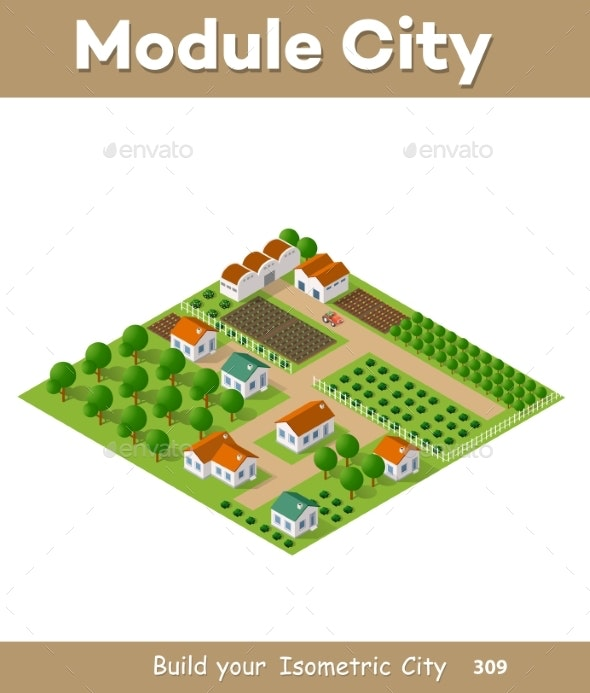 Isometric Vector Nature Rural - Flowers & Plants Nature