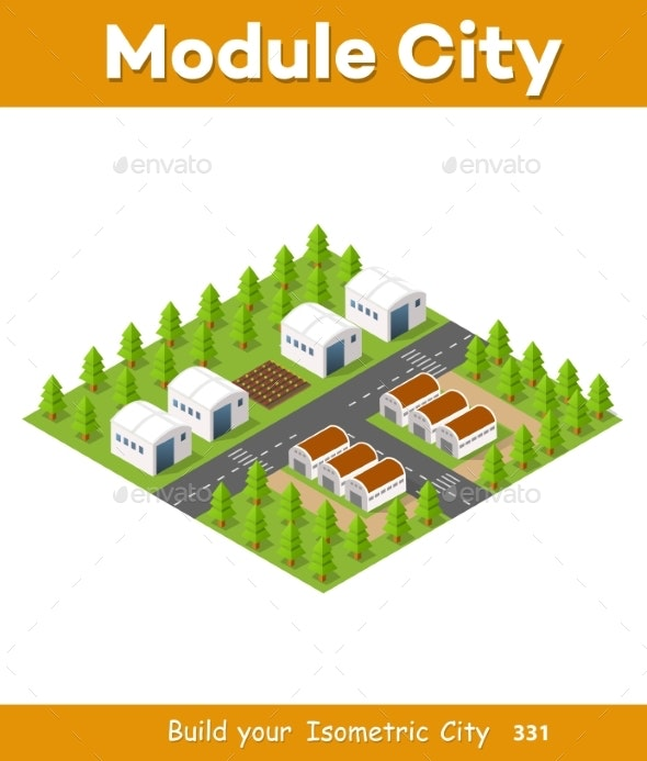Rural Isometric Natural - Buildings Objects